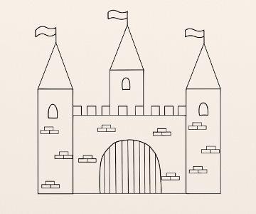 Cum Se Deseneaza Un Castel By Oana