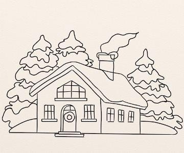 Cum Se Deseneaza Un Peisaj De Iarna By Oana