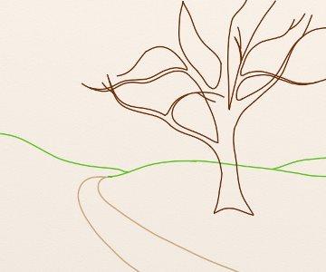 Cum Se Deseneaza Un Peisaj De Primavara By Oana