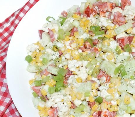 Salata cu porumb si conopida