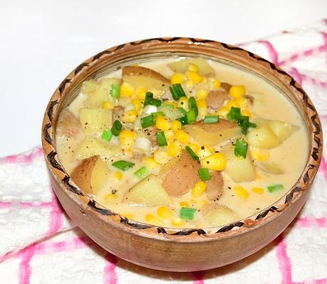 Supa de cartofi si porumb