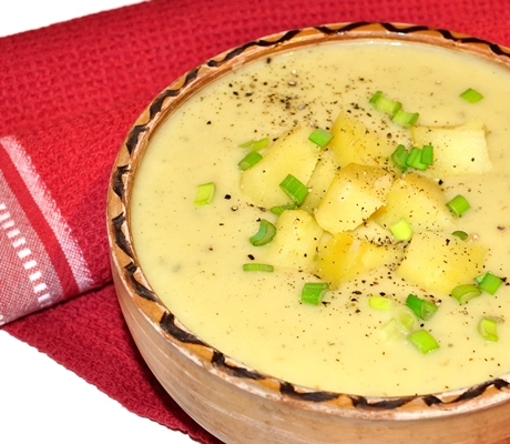 Supa crema de cartofi si praz