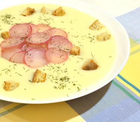 Supa de cartofi cu ridichi
