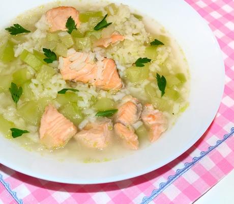 Supa cu peste si dovlecei