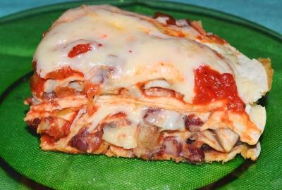 Tortillas cu ciuperci si fasole rosie